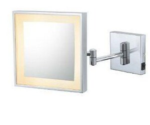 Kimball and Young 7-3/4 in. Single Sided LED Square Wall Mirror in Polished Chrome K91043HW