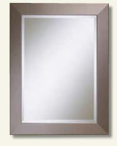 Kentwood 33-1/2 x 25-1/2 in. Faux Mirror in Stainless Steel K254