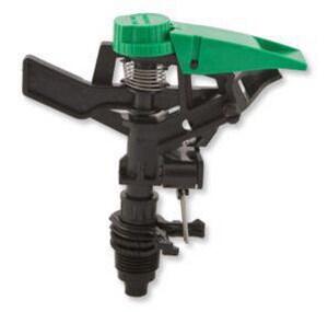 Aqualine 1/2 in. Plastic Impact Sprinkler in Black Green AQUP50