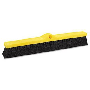 Rubbermaid 24 in. Polypropylene Fill Plastic Foam Block Medium Floor Sweep in Black RFG9B0900BLA