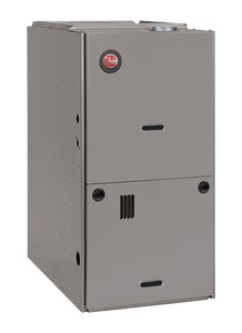 Rheem Classic® Series 21 in. 100000 BTU 80% AFUE 3.5 - 5 Ton Single-Stage Downflow and Horizontal 1/2 hp Natural or Propane Furnace R801PA100521ZSA