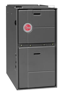 Rheem RGRM Series 17-1/2 in. 75000 BTU 95% AFUE 3 Ton Two-Stage Upflow 1/2 hp Natural or Propane Furnace RGRM07EMAES