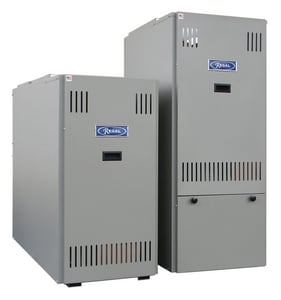 Boyertown Furnace Classic® Series 20-1/4 in. 119000 BTU 84% AFUE 4 Ton Two-Stage Lowboy 3/4 hp Oil Furnace BROLA070E04R