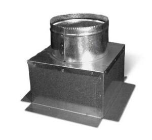 Lukjan Metal Products 8 x 8 in. Galvanized Steel Register Box SHMCBTNOXX