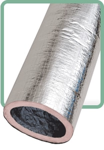 Flexible Technologies 16 in. x 25 ft. Polyester R8 Insulated Flexible Air Duct FKMR81625BAG