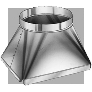 Royal Metal Products 16 x 16 in. Square to Round Transition with Flange R421F1616