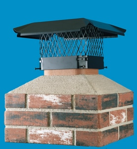 HY-C Company 9 x 18 in. Galvanized Steel Chimney Cover in Black HCBO18