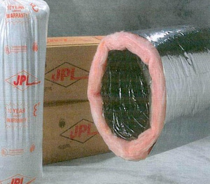 JP Lamborn 4 in. x 25 ft. Polyester R6 Insulated Flexible Air Duct JMHP25R6BP