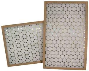 Glasfloss Industries PTA Series 25 x 25 x 1 in. Air Filter Fiberglass and Polystrand® MERV 5 GPTA25251