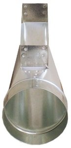 Snappy ADP 2-1/4 x 10 x 6 in. Center Galvanized Steel End Boot SNAP17C206
