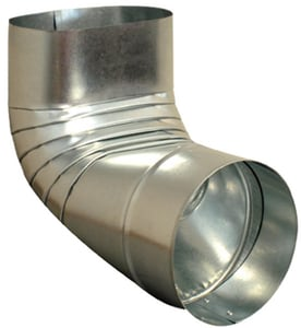 Royal Metal Products 7-3/4 in. x 3-1/4 in. - 6 in. Oval to Round 30 ga No-Crimp 90° Register Boot R2486NC