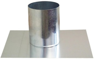 Snappy 4 in. Galvanized Steel Duct Cap in Round Duct SNARCA