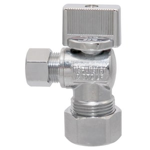 Nibco Pro-Stop® 1/2 in x 3/8 in Ribbed Handle Angle Supply Stop Valve N7175ALFDC