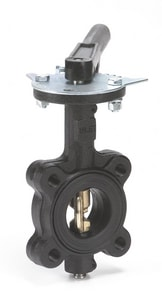 Milwaukee Valve CL Series 2-1/2 in. Cast Iron EPDM Lever Handle Butterfly Valve MCL223E