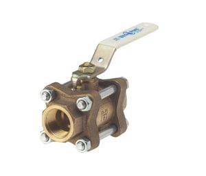 Milwaukee Valve UPBA350 1/2 in. Cast Bronze Full Port Solder 600# Ball Valve MUPBA350D