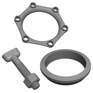 PROSELECT® IMJAPHDI Series 3 in. IPS Ductile Iron, Low Alloy Steel, HDPE and SBR Accessory Pack with Gland IMJAPHDI