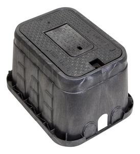 Carson Industries 12 in. Standard Plastic Irrigation Control Valve Meter Box with Plastic Reader C10151034