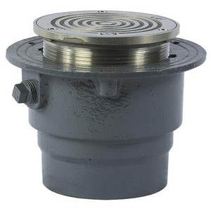 Watts Drainage Products FD-100-M Series 2 in. No Hub Cast Iron Nickel Bronze Floor Drain WFD10M5