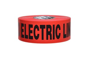 Presco 4 in. x 1000 ft. Non-Detectable Electric Tape in Red PND4104R6