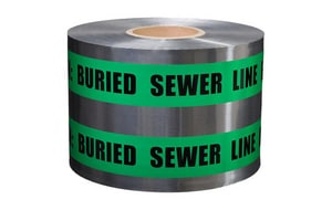 Presco 6 in. x 1000 ft. Underground Sewer Detectable Tape PSD6105G4 at Pollardwater