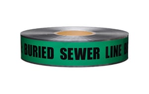 Presco 2 in. x 1000 ft. Underground Sewer Detectable Tape PSD2105G4 at Pollardwater