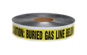 Presco 6 in. x 1000 ft. 5 Mil Underground Detectable Gas Tape in Yellow PSD6105Y5