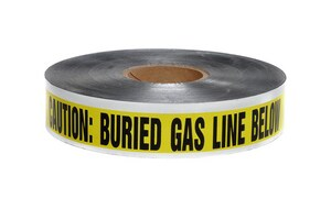 Presco 6 in. x 1000 ft. 5 Mil Underground Detectable Gas Tape in Yellow PSD6105Y5 at Pollardwater