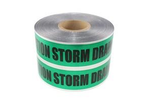 Presco 1000 ft. Storm Drain Detectable Tape PSD6105G1054
