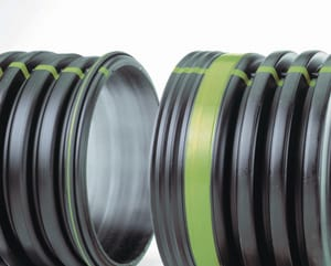 Advanced Drainage Systems 15 in. x 20 ft. Bell End HDPE Drainage Pipe A15650020IB