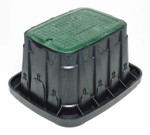 Rain Bird 12 x 21-13/16 in. Rectangle Irrigation Valve Box with Lid RAIVBSTD