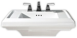 American Standard Town Square® Pedestal Bathroom Sink in White A0780008020