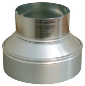 Snappy 12 in. x 10 in. 26 ga Galvanized No-Crimp Duct Reducer SNA661210
