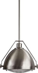 Park Harbor® 100W 1-Light Medium E-26 Pendant in Brushed Nickel PHPL5571