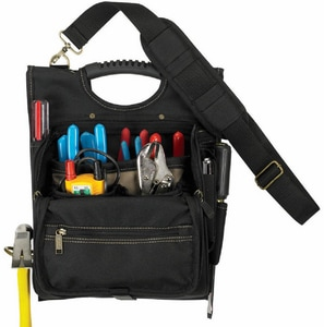 CLC Custom Leather Craft 15-1/4 in. 21-Pocket Zippered Electricians Tool Pouch CLC1509