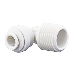 1/4 x 3/8 in. FNPT Fixed Reducing Polypropylene and EPDM 90 Degree Bulk Elbow JPP480823W