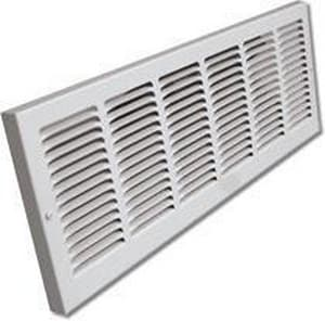 Shoemaker Manufacturing Baseboard Return Air Grill in White S1150X