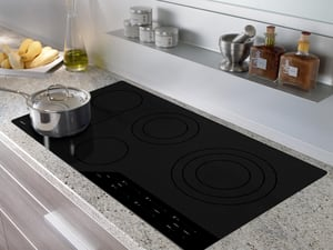 Wolf Range 36 in. Smoothtop Electric Cooktop in Black WCE365CB