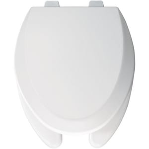 Bemis Wood Elongated Open Front With Cover Toilet Seat in White B1550PRO000