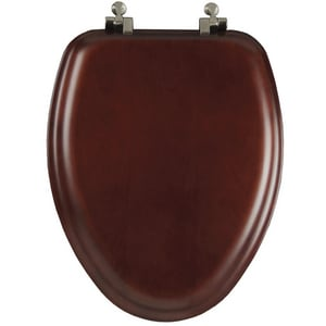 Bemis Natural Reflections™ 18-53/100 in. Elongated Toilet Seat in Cherry B19602NI178