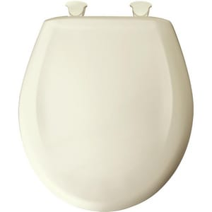 Bemis Round Closed Front Toilet Seat with Cover in Biscuit B200SLOWT346
