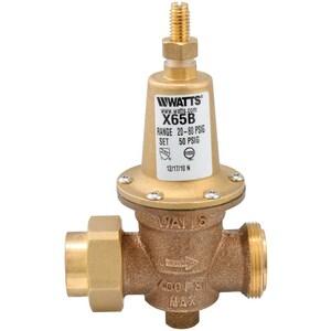 Watts Series LFX65B 80# 400 psi Bronze Solder Union x FNPT Pressure Reducing Valve WLFX65BUS