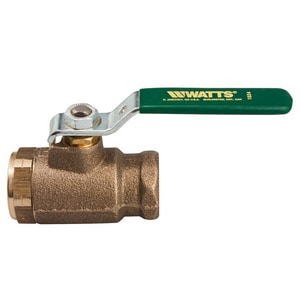 Watts Series B6000 1 in. Cast Bronze Standard Port NPT 600# Ball Valve WLFB6000M2G
