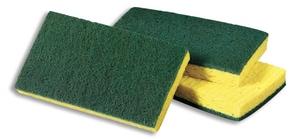 Scotch-Brite™ 6-1/10 in. Medium Duty Scrub Sponge in Green and Yellow 3M04801120688