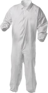 Kimberly Clark KleenGuard® Microporous and Fabric Coverall with Front Zip and Elastic Wrist and Ankle K3892 at Pollardwater