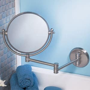 Gatco Expandable Wall Mount Mirror in Satin Nickel GAT1408