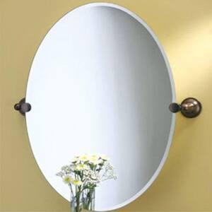 Gatco Tiara 32 x 24 in. Frameless Oval Mirror in Oil Rubbed Bronze G4349LG