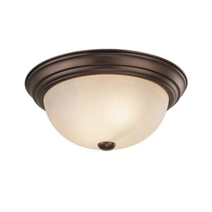 Capital Lighting Fixture Chapman 5-1/2 x 11 in. 2-Light Ceiling Fixture in Burnished Bronze with Tumbleweed Glass Shade C2751BB