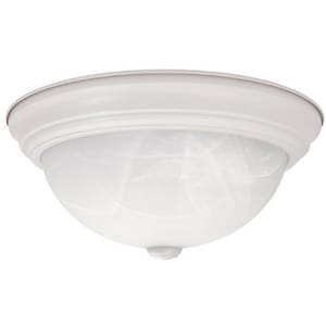 Capital Lighting Fixture 60 W 3-Light 2 lbs. Medium Flush Mount Ceiling Fixture in Matte White C2715MW