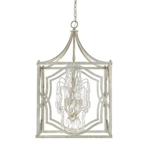 Capital Lighting Fixture Blakely 29 in. 4-Light Foyer in Antique Silver C9482ASCR