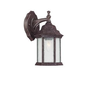 Capital Lighting Fixture Main Street 12 in. 100W 1-Light Outdoor Wall Lantern in New Tortoise C9832NT